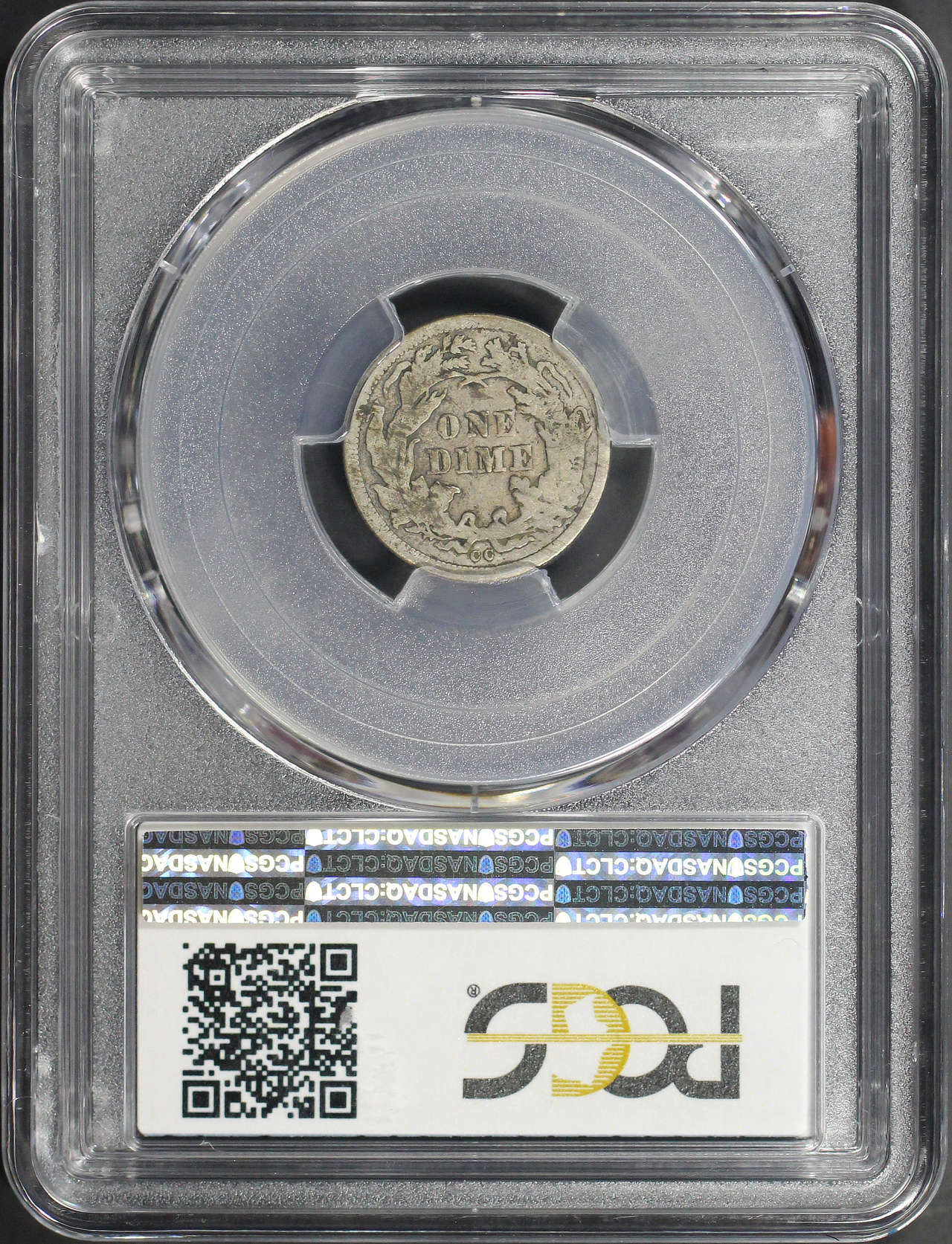 Reverse of 1877-CC Seated Liberty Dime PCGS VG-8