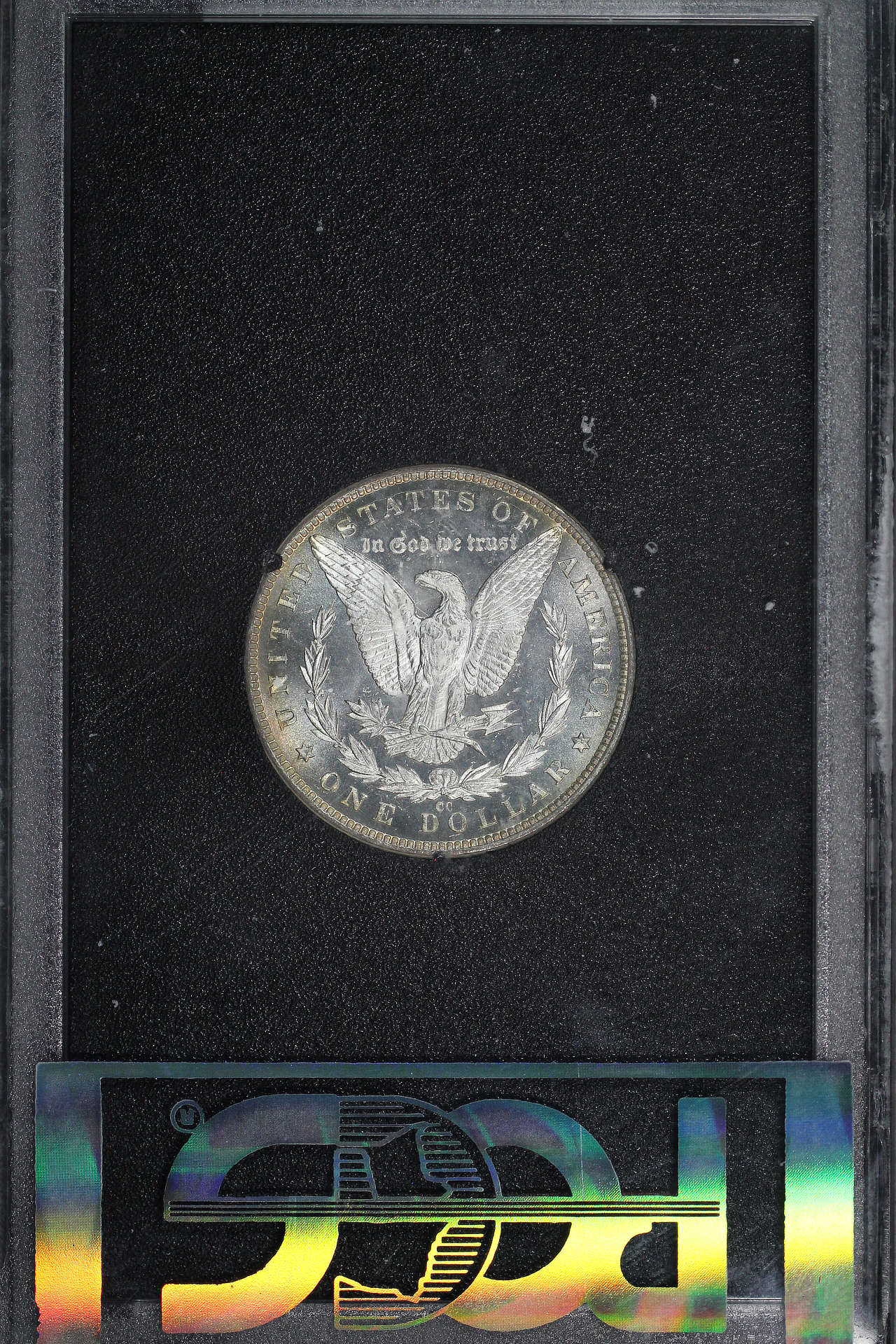 Reverse of 1883-CC GSA Morgan Dollar PCGS MS-65 DMPL