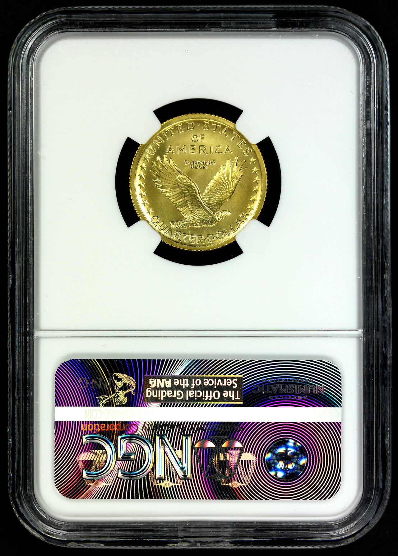 Reverse of 2016-W NGC SP-70 Early Release Gold 1/4 oz Standing Liberty Quarter Centennial Misc US Bullion MS-70
