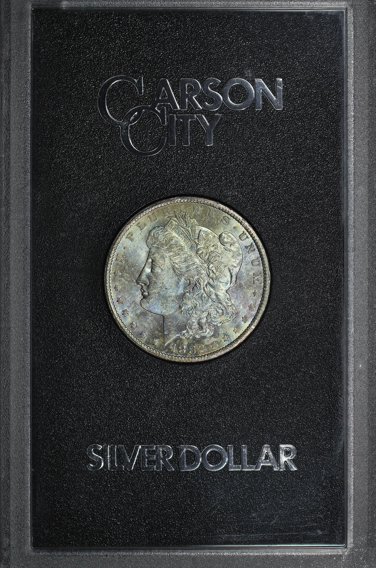 Obverse of 1882-CC GSA Morgan Dollar