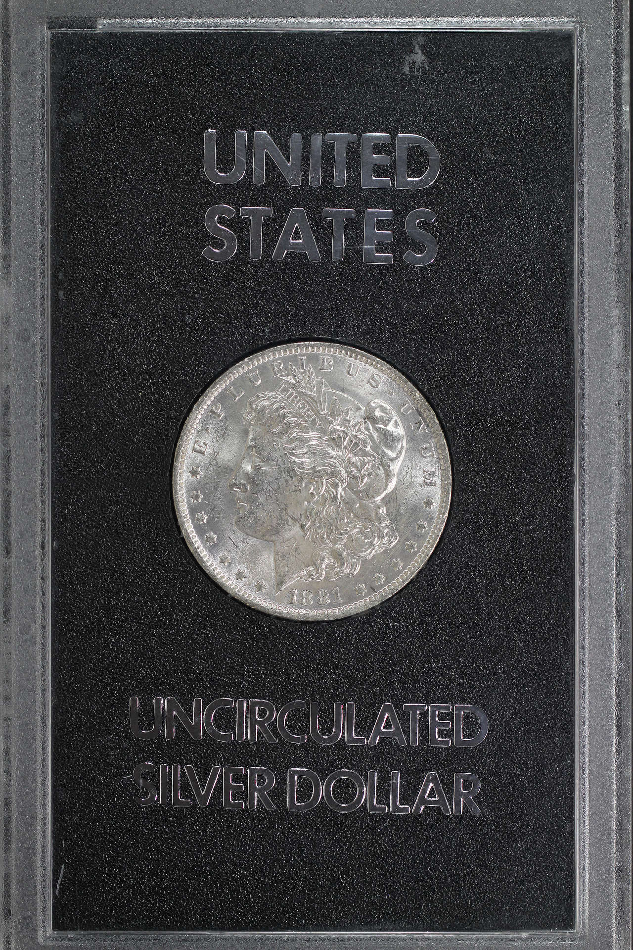Obverse of 1881-O GSA Morgan Dollar