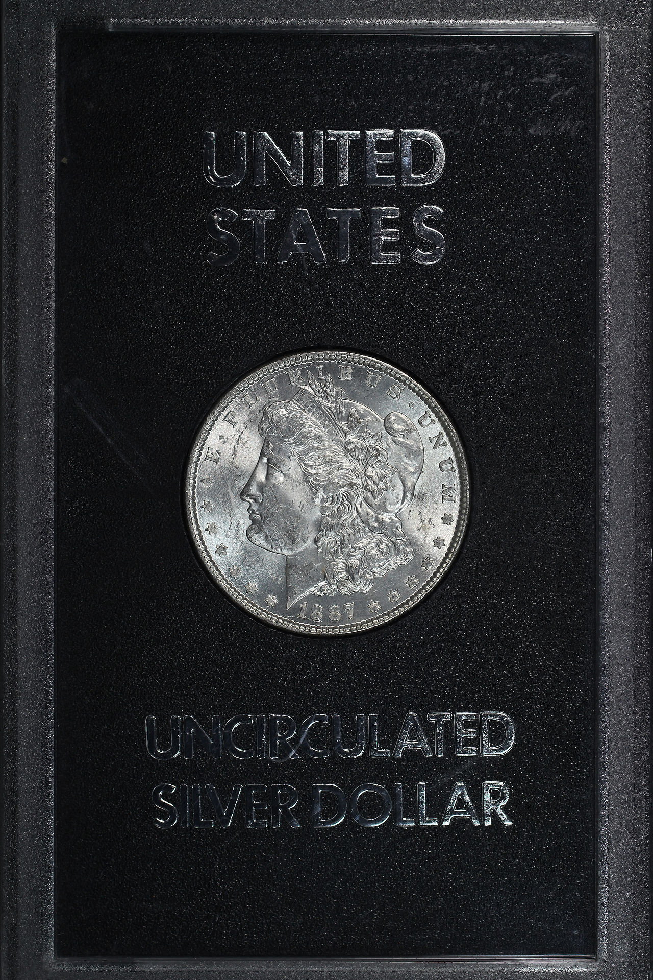 Obverse of 1887 GSA Morgan Dollar