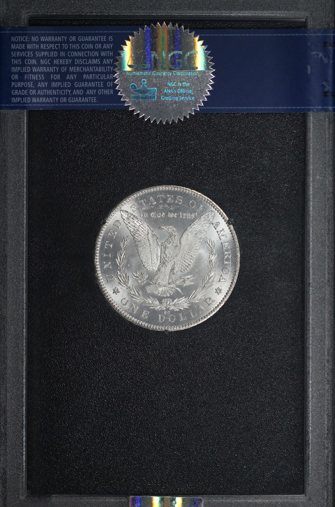 Reverse of 1878-CC GSA Morgan Dollar NGC MS-61