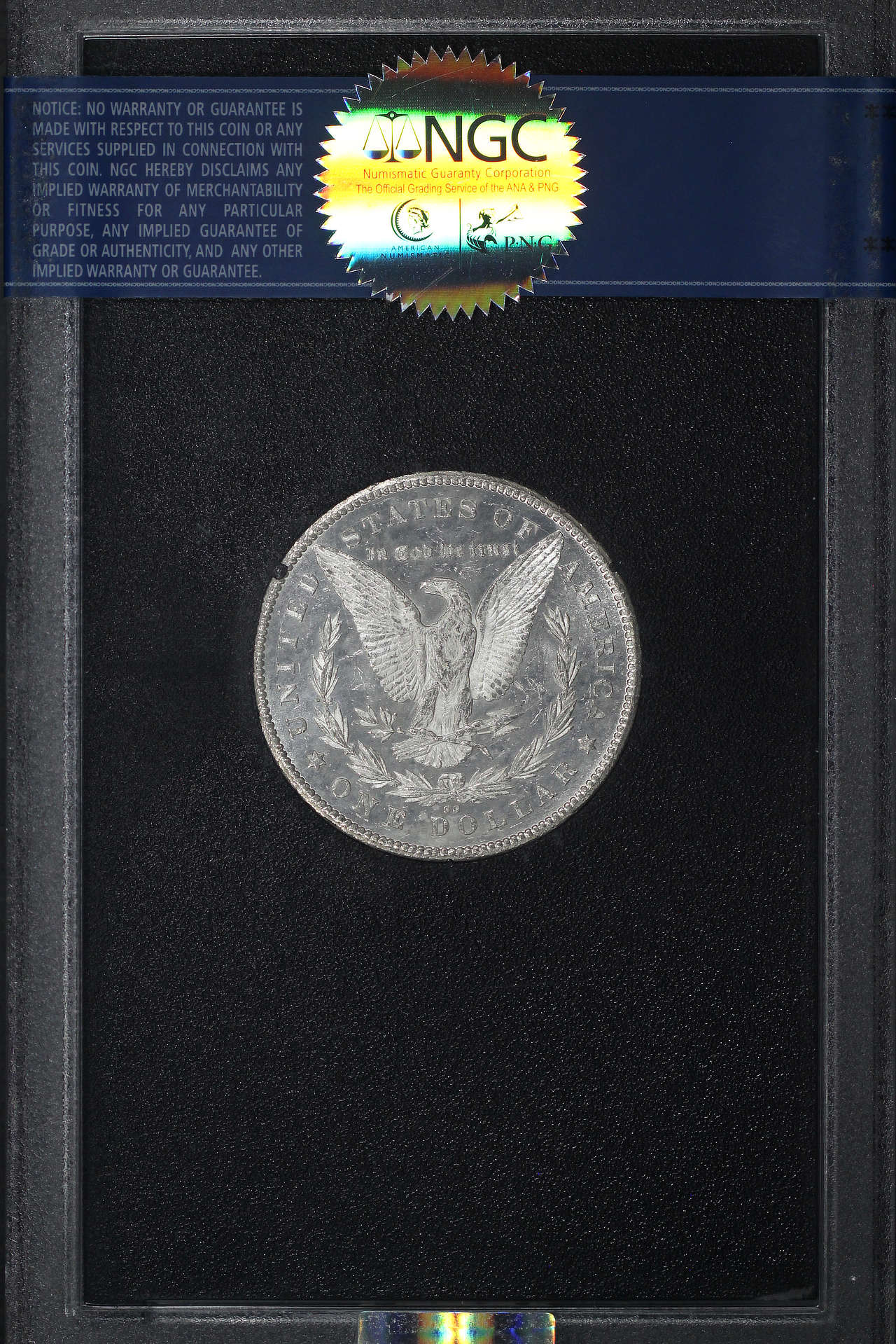 Reverse of 1878-CC GSA Morgan Dollar NGC MS-62