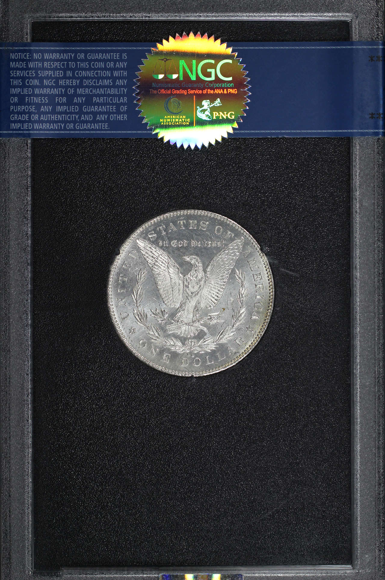Reverse of 1878-CC GSA Morgan Dollar NGC MS-63