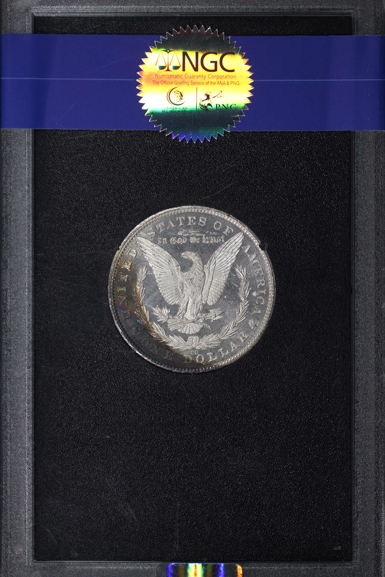 Reverse of 1881-CC GSA Morgan Dollar NGC MS-63 +DPL