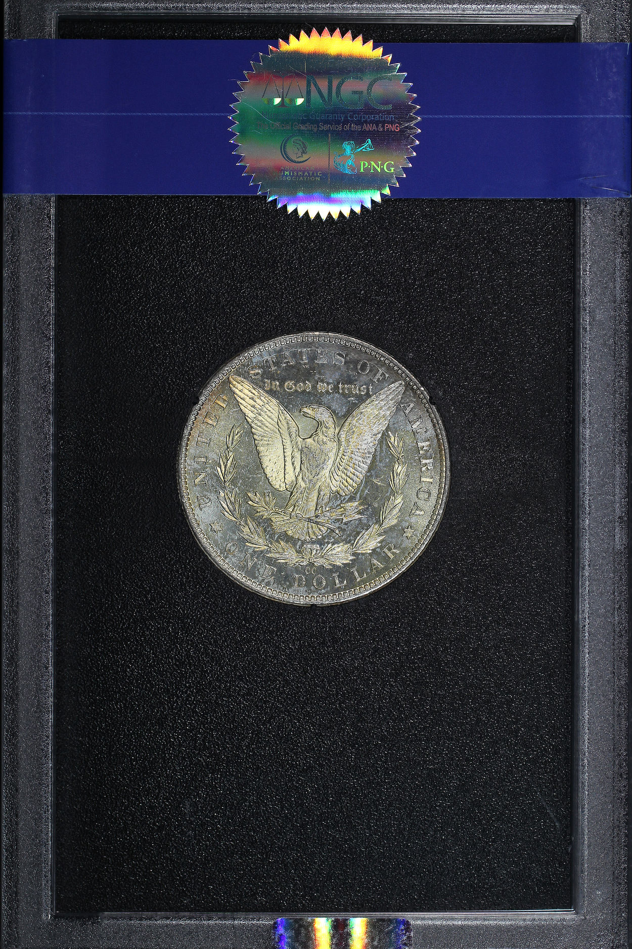 Reverse of 1883-CC GSA Morgan Dollar NGC MS-63 + DPL