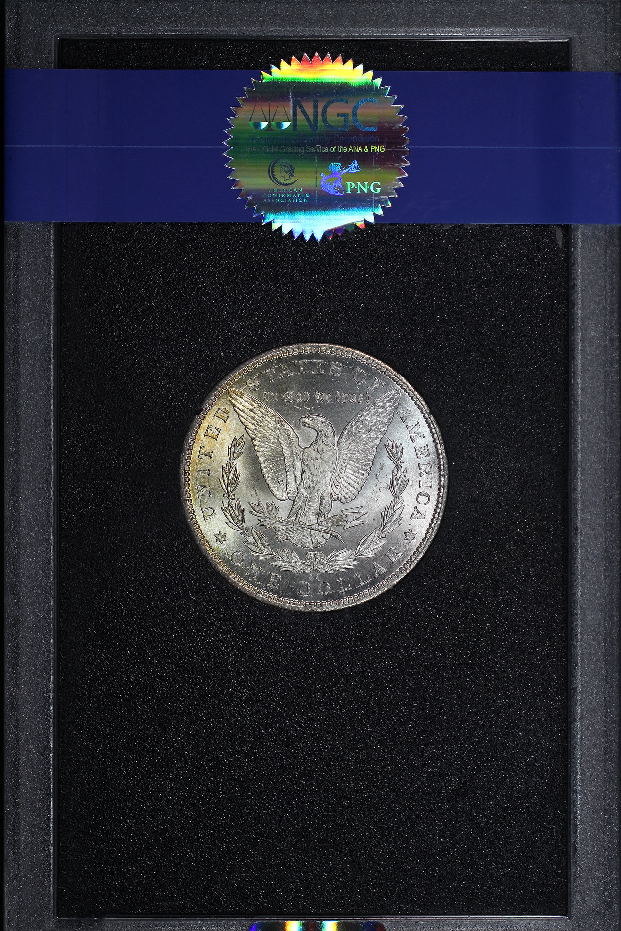 Reverse of 1884-CC GSA Morgan Dollar NGC MS-65