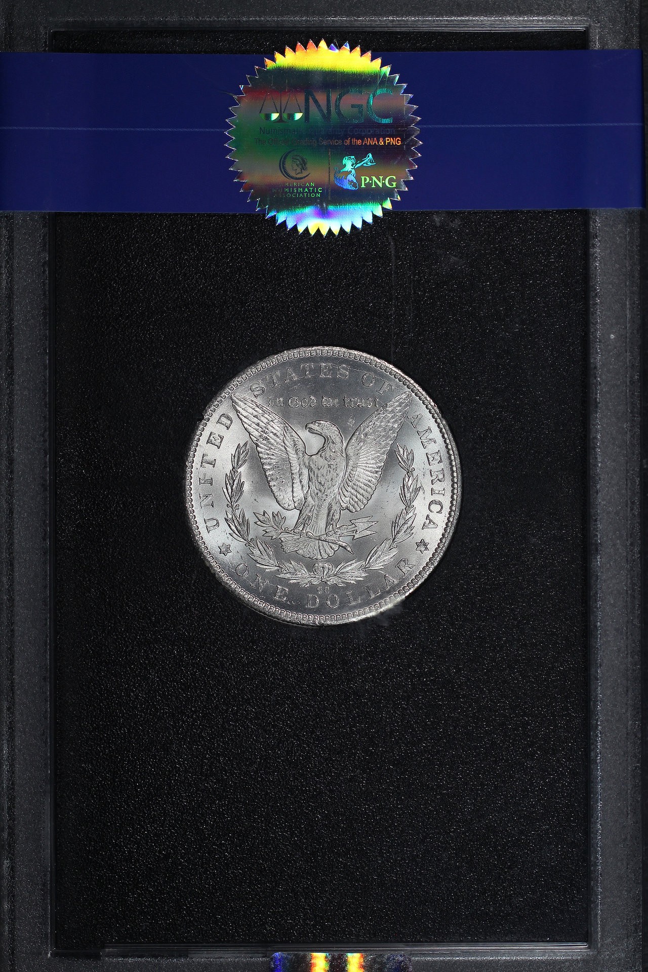 Reverse of 1884-CC GSA Morgan Dollar NGC MS-65 +