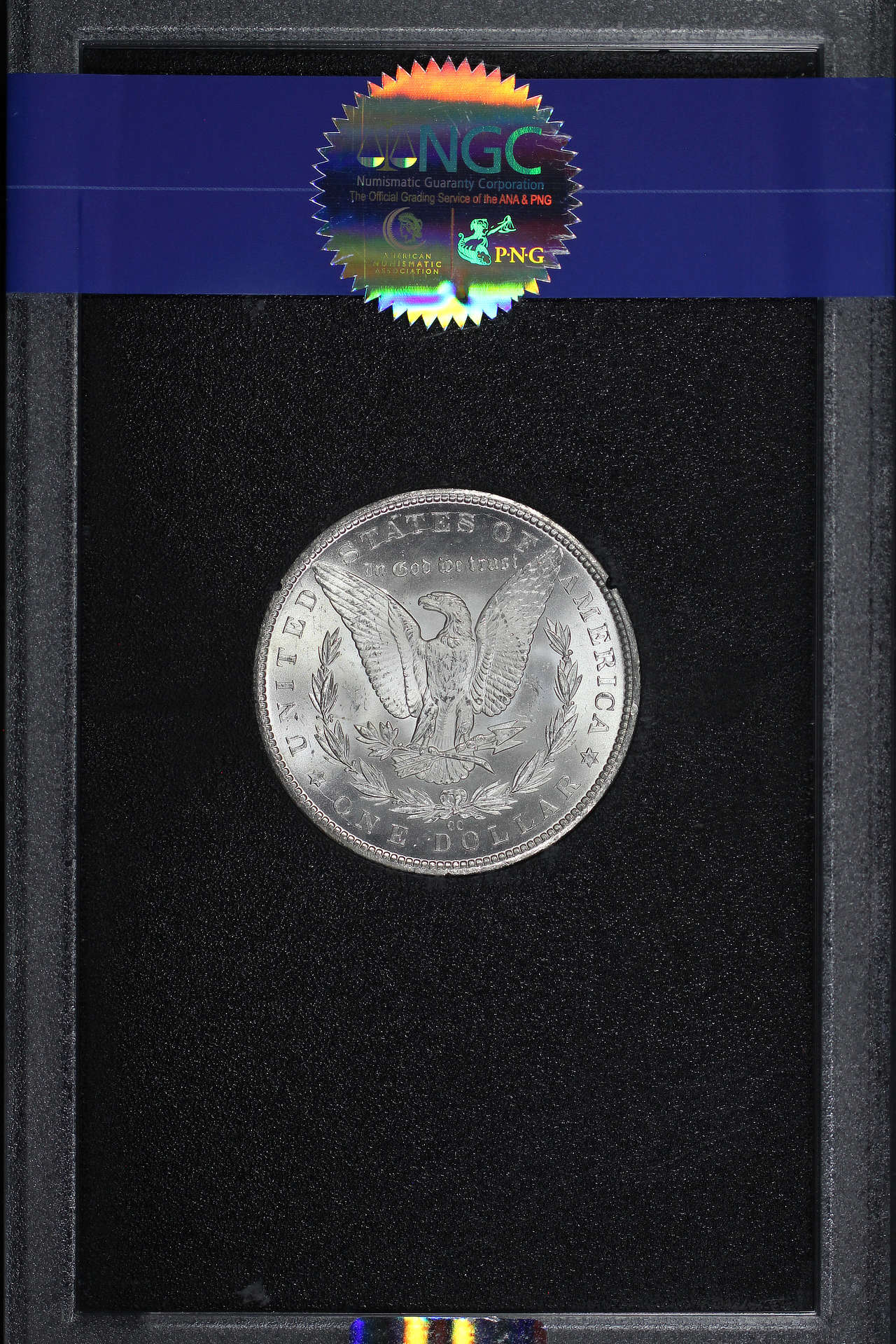 Reverse of 1884-CC GSA Morgan Dollar NGC MS-66