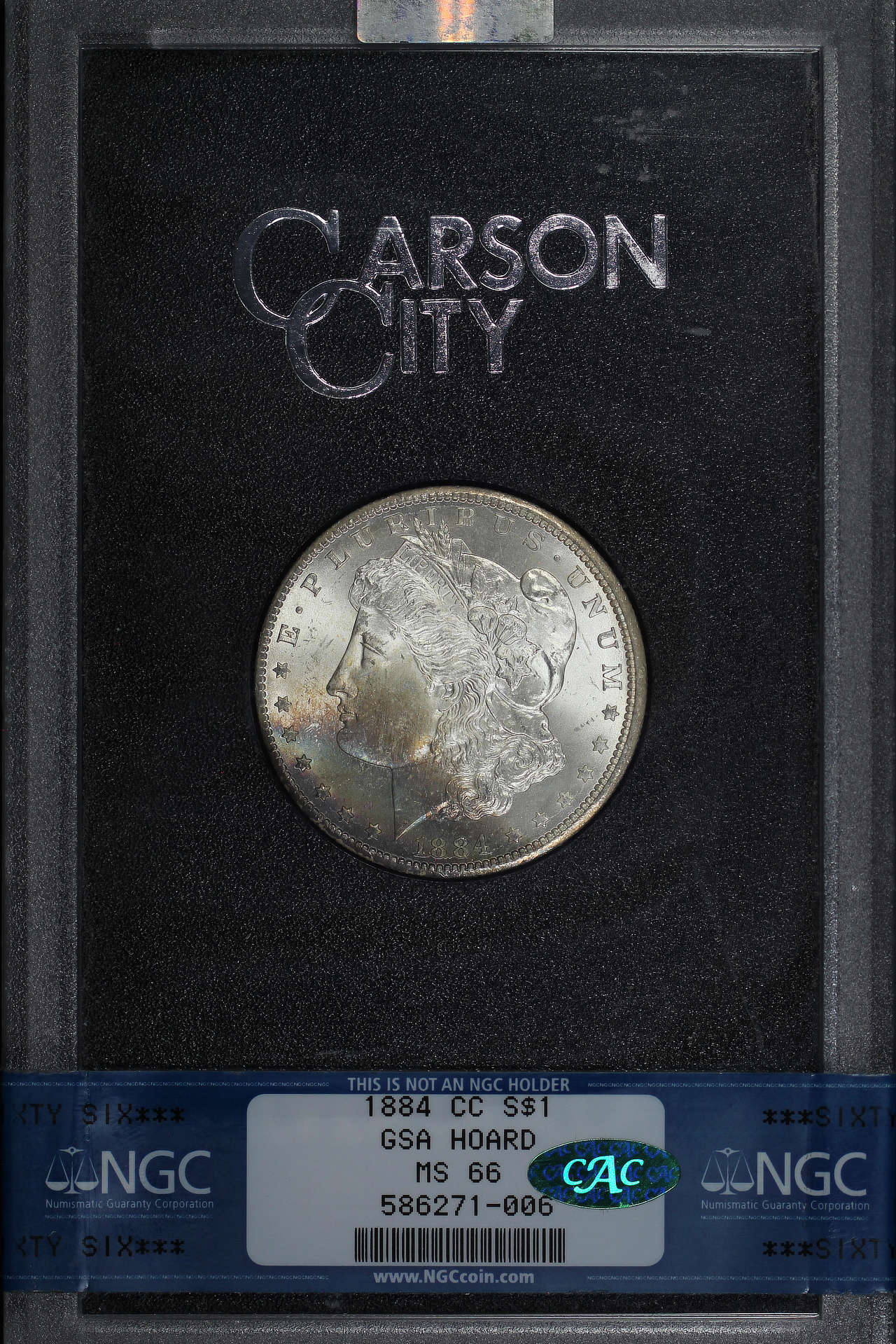 Obverse of 1884-CC GSA Morgan Dollar NGC MS-66 CAC