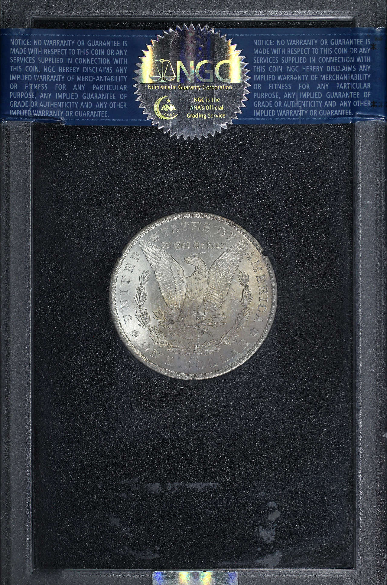 Reverse of 1884-CC GSA Morgan Dollar NGC MS-66 CAC