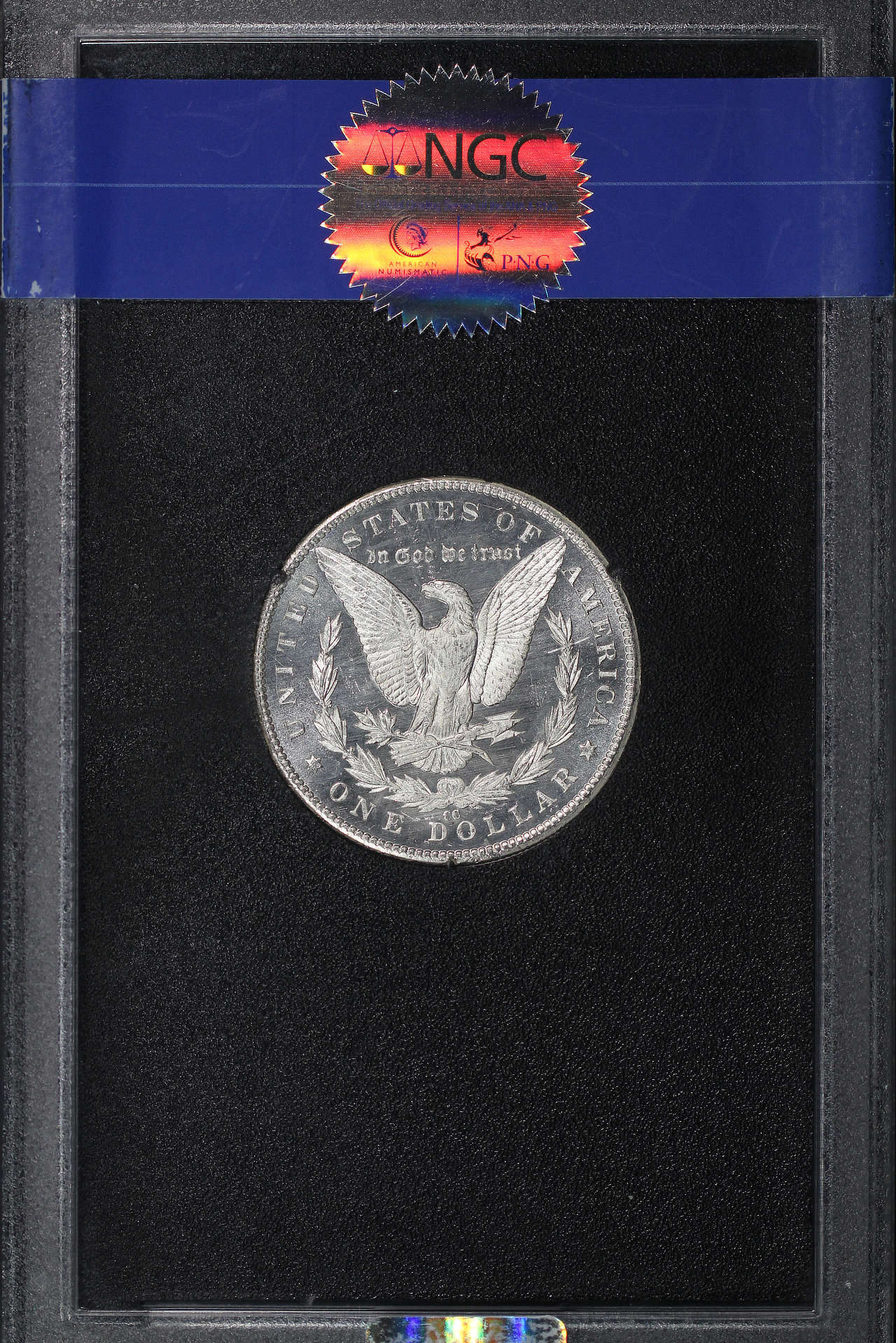 Reverse of 1885-CC GSA Morgan Dollar NGC MS-64 DPL