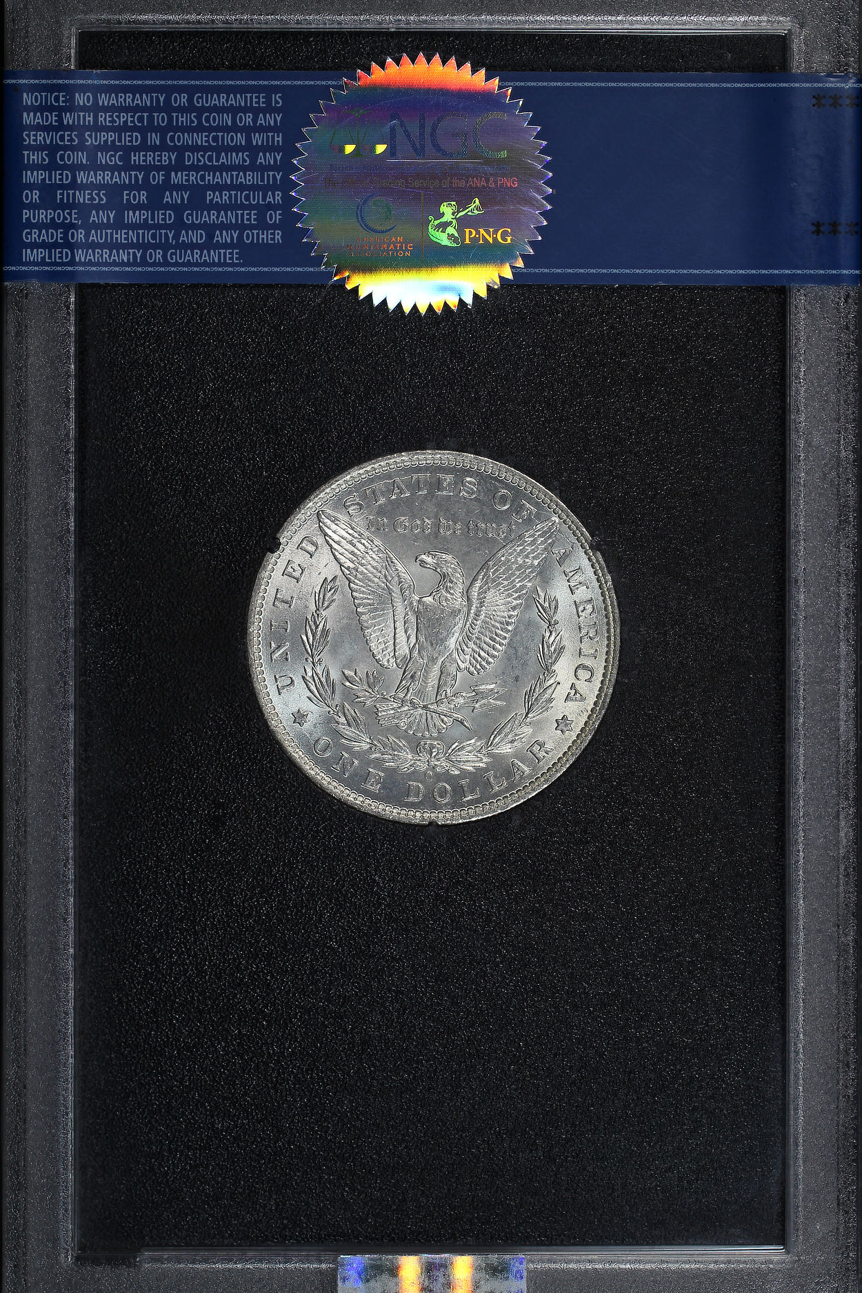 Reverse of 1881-O GSA Morgan Dollar NGC MS-62